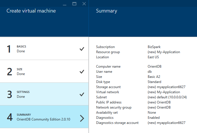 Azure-Create-Virtual-Machine-Summary