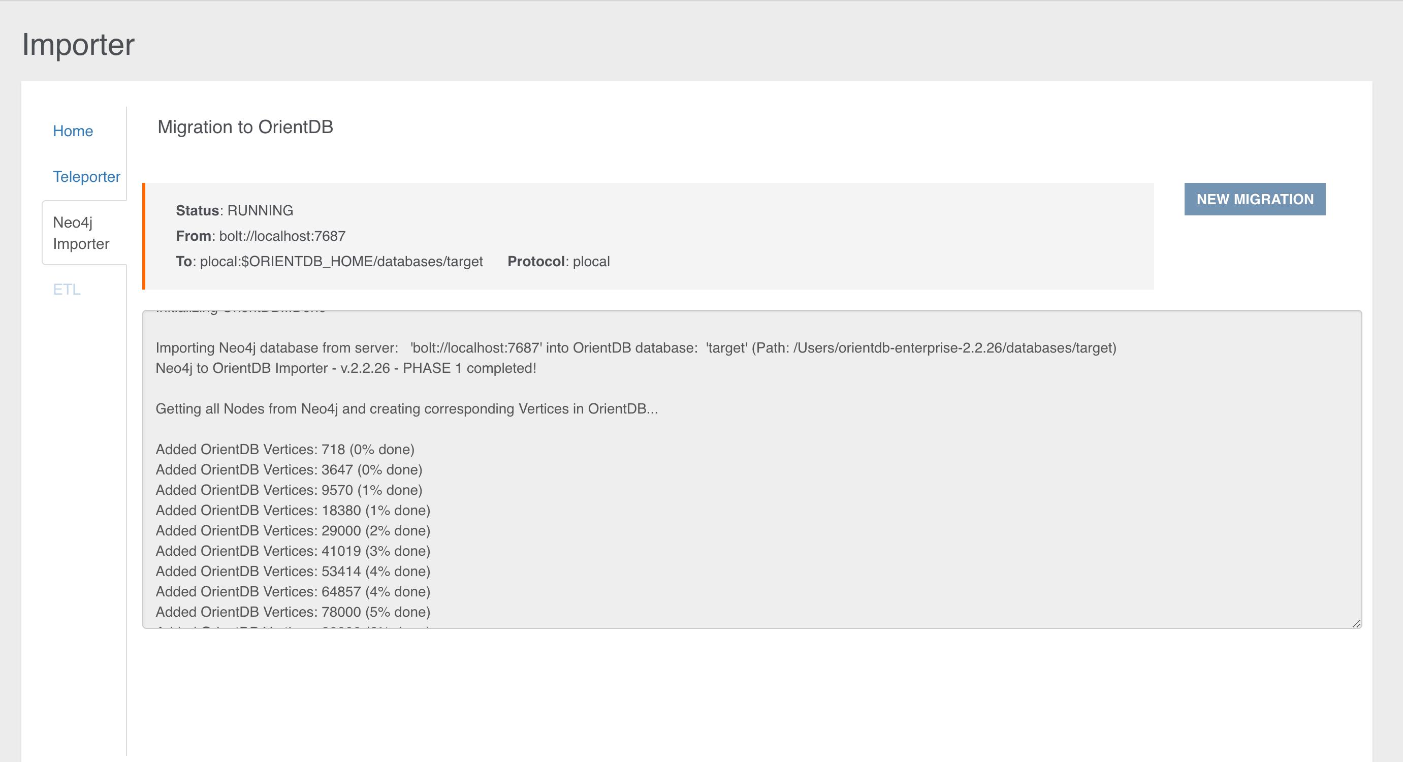 Neo4j to OrientDB Importer · OrientDB Manual